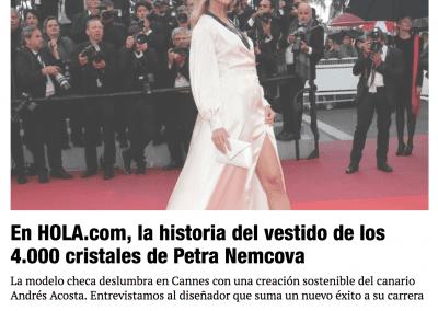 Hola.com - La historia del vestido de los 4000 cristales de Petra Nemcova